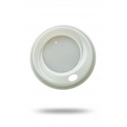 Крышка PS Ǿ=80мм для бумажных стаканов, белая