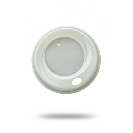 Крышка PS для бумажных стаканов Ø=80мм | Белая