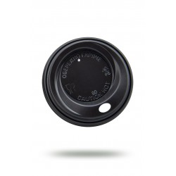 Крышка PS Ǿ=80мм для бумажных стаканов, черная