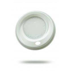 Крышка PS Ǿ=90мм для бумажных стаканов, белая