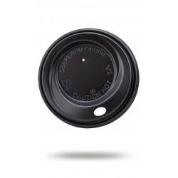 Крышка PS Ǿ=90мм для бумажных стаканов, черная