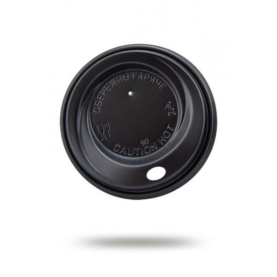 Крышка PS Ø=90мм для бумажных стаканов, черная