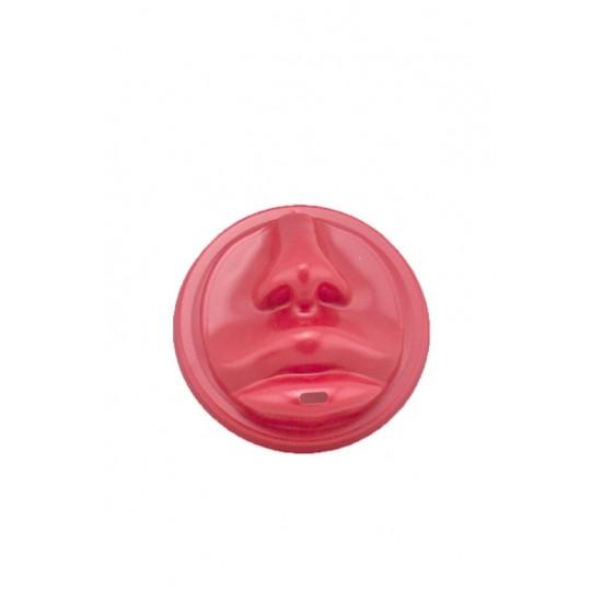 Крышка PS красная в форме губ для бумажных стаканов Ǿ=90мм