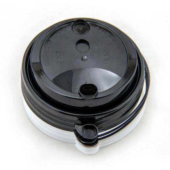 Крышка с питейником PP Ø=90мм | Черная для стаканов NEW