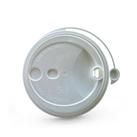 Крышка с питейником PP Ø=80мм | Белая для стаканов NEW