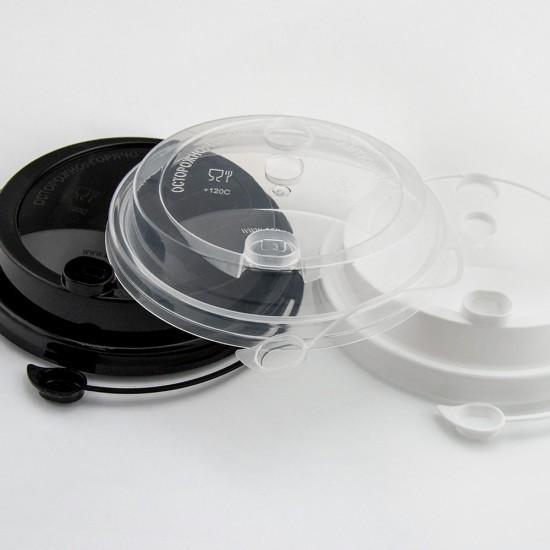 Крышка с питейником PP Ø=90мм   Прозрачная для стаканов NEW
