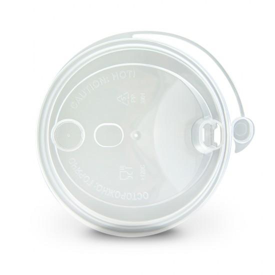 Крышка с питейником PP Ø=90мм | Прозрачная для стаканов NEW