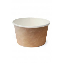 Контейнер бумажный для супа и вторых блюд крафт 470мл, Ǿ=110мм, h=68мм