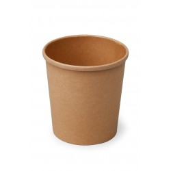 Контейнер бумажный для супа и вторых блюд  крафт 500мл, Ǿ=98мм, Ǿ=100мм