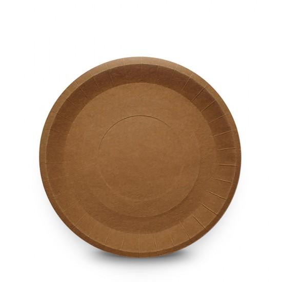 Тарелка бумажная Ø=180мм, крафт