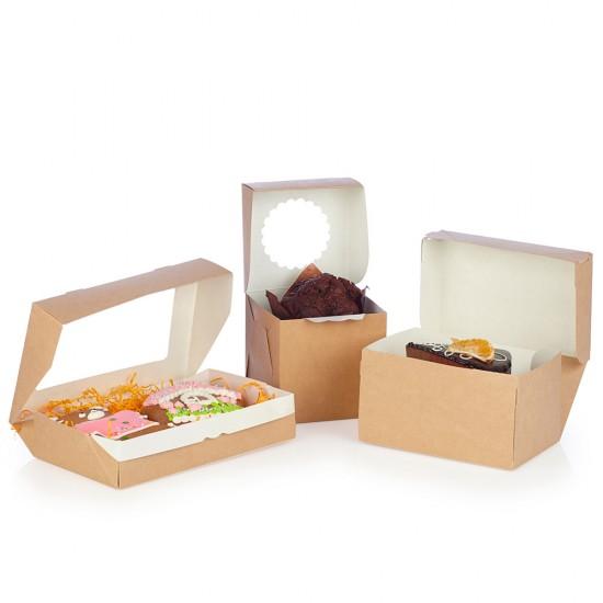 Коробка бумажная 1200мл | Крафт/Черная 1PE 150*100*85мм