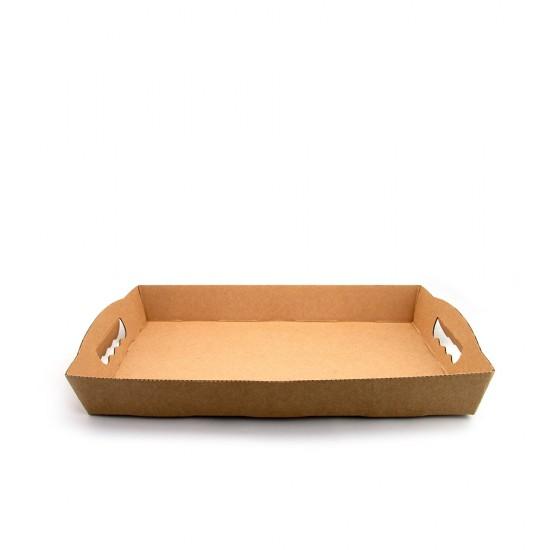 Поднос картонный жесткий   Крафт 340*240*45мм
