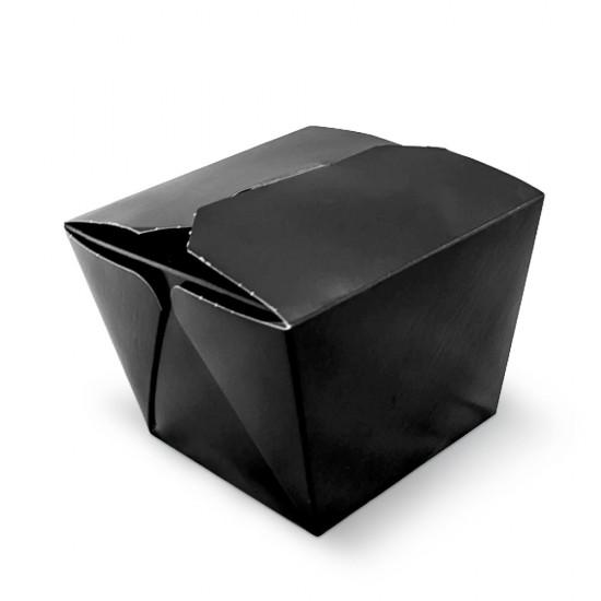 Коробка бумажная для лапши ВОК 700мл   Черная/Крафт 1PE 85*85*82.5мм