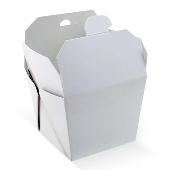 Коробка бумажная для лапши ВОК 700мл   Белая 1PE 85*85*82.5мм