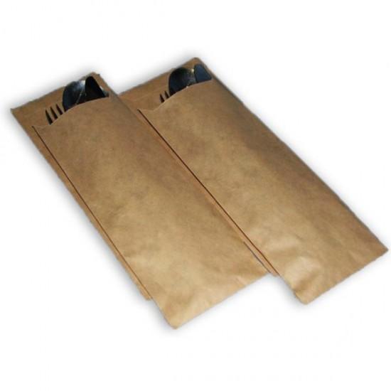Пакет для столовых приборов 220*90мм крафт