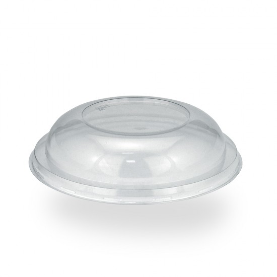 Крышка «нахлобучка» купольная PET для контейнеров под запайку | Прозрачная Ø=190мм, h=38мм