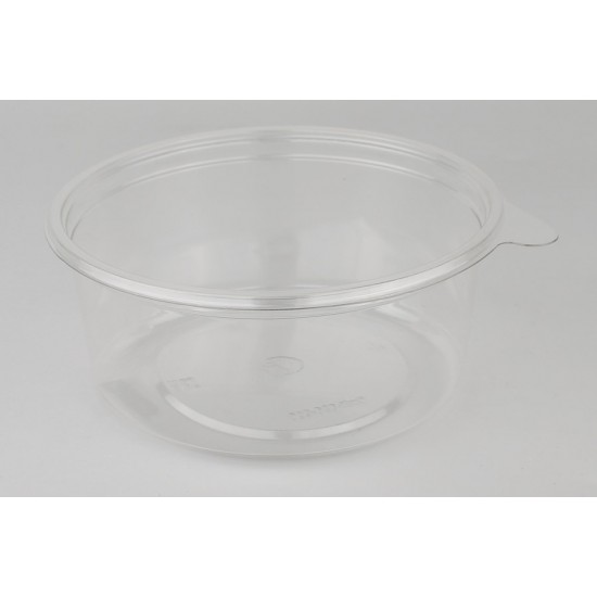 Контейнер круглый прозрачный РЕТ для салата 500мл Ø=131мм h=44мм