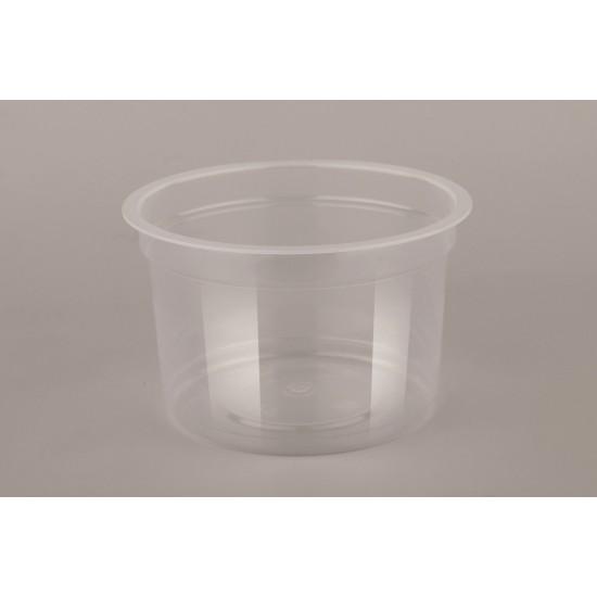Универсальный контейнер  круглый полупрозрачный РР 200мл Ø=95мм, h=60мм