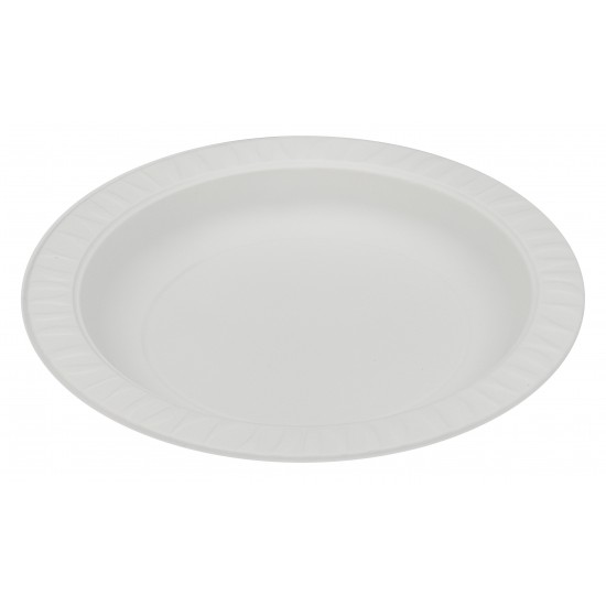 Тарелка из кукурузного крахмала белая  Ǿ=180мм