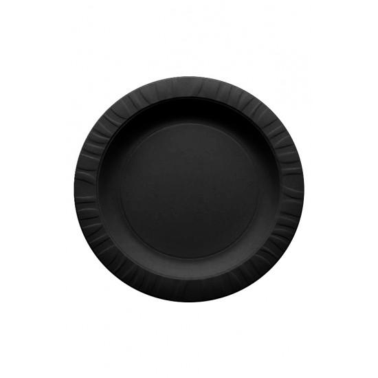 Тарелка из кукурузного крахмала черная Ǿ=230мм