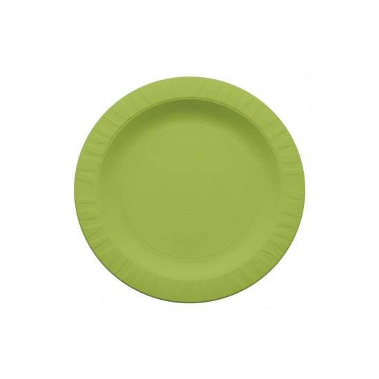 Тарелка из кукурузного крахмала салатовая Ǿ=230мм