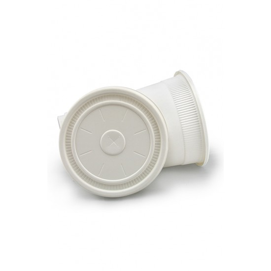 Крышка из кукурузного крахмала 360мл | Белая для стакана