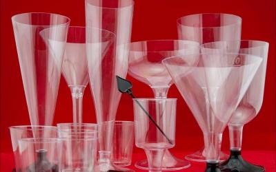 Стопки / Рюмки / Бокалы / Фужеры — одноразовые из стеклоподобного пластика для любого события!