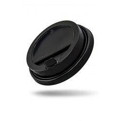Крышка PP черная с питейником Ǿ=80мм