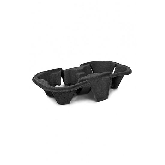Холдер-держатель для 2-х стаканов бумажный, Черный