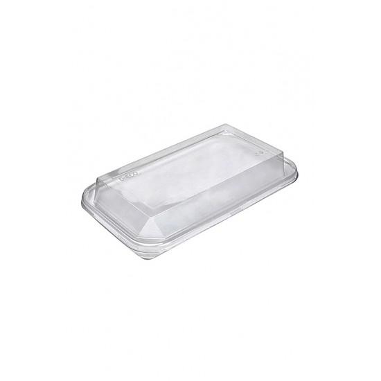 Крышка для лотка прозрачная полукупольная, PET, 235*140*29мм