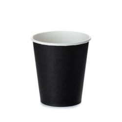 Стакан бумажный 1РЕ одностенный черный 110мл (4oz) Ǿ=60мм, h=62мм