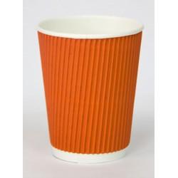 Стакан бумажный гофрированный оранжевый 350мл Ǿ=90мм, h=110мм