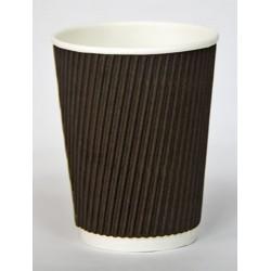 Стакан бумажный гофрированный коричневый 350мл Ǿ=90мм, h=110мм