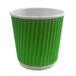 Стакан бумажный гофрированный зеленый 110мл Ǿ=61мм, h=55мм
