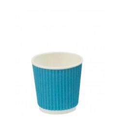 Стакан бумажный гофрированный голубой 110мл Ǿ=61мм, h=55мм