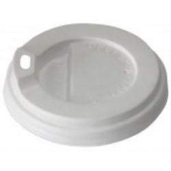 Крышка PS с поилкой для бумажных стаканов Ǿ=79мм