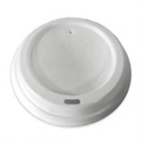 Крышка без поилки PS Ø=71мм | Белая для бумажных стаканов