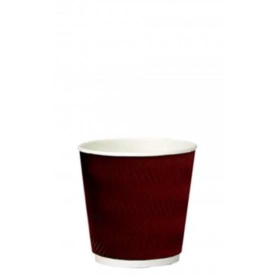 Стакан бумажный гофрированный S-волна коричневый 185мл Ǿ=72мм, h=72мм