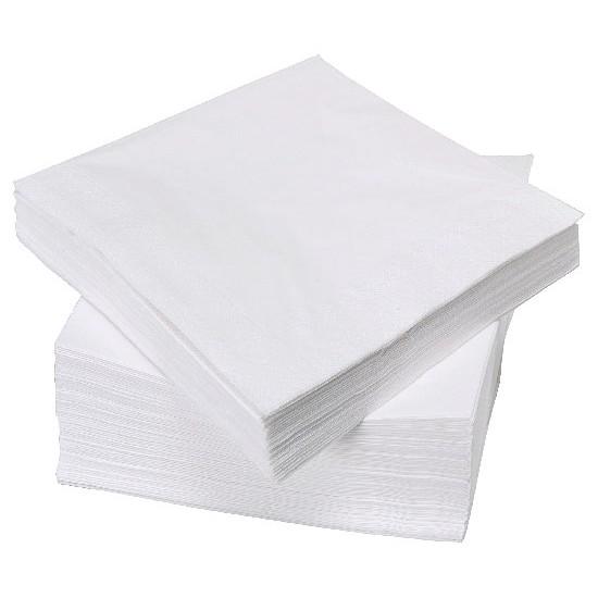 Салфетка бумажная барная однослойная 24*24см | Белая (500шт/уп)