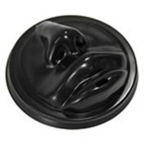 Крышка в форме губ PS Ø=90мм | Черная для бумажных стаканов