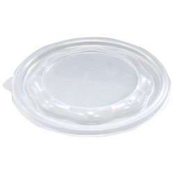 Крышка полипропиленовая полукупольная полупрозрачная для контейнера  Ǿ=180мм 010924