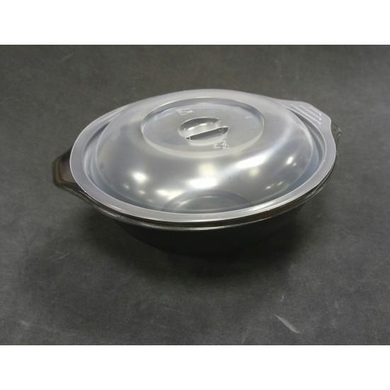Контейнер полипропиленовый для супа и вторых блюд черный, Ǿ=140 мм 500мл
