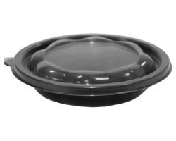 Контейнер полипропиленовый для горячих вторых блюд черный  Ǿ=180 мм, 500мл
