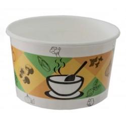 Контейнер бумажный для супа и вторых блюд со стандартным дизайном 470мл, Ǿ=110мм, h=68мм