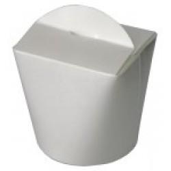 Коробка бумажная для лапши (Паста Бокс) | белый 500 мл 2РЕ | Ǿ=82мм, h=90мм