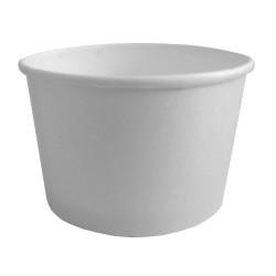 Контейнер бумажный для супа и вторых блюд белый 470мл, Ǿ=110мм, h=68мм