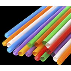 Трубочка (соломинка)  Ǿ=8мм d=200мм для фреша цветная (500шт/уп)