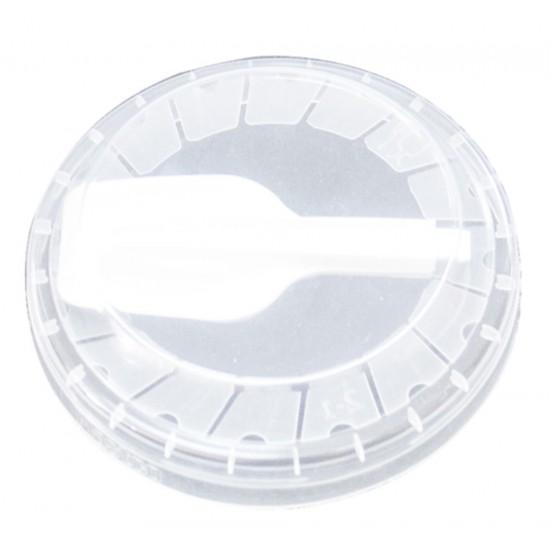Крышка плоская PP с ложечкой Ø=95мм   Прозрачная
