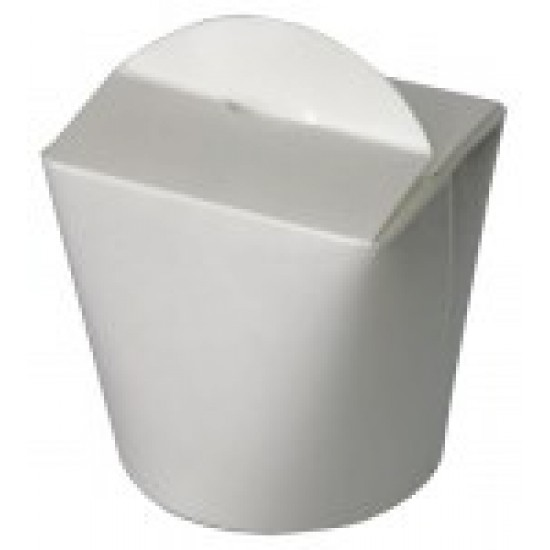 Коробка бумажная для лапши (Паста Бокс) | белый высокий 750 мл 1РЕ | Ǿ=90мм, h=118мм