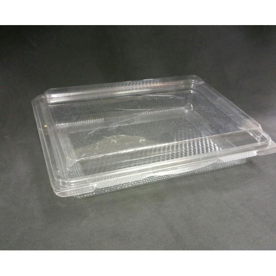 Контейнер полиэтиленовый прямоугольный  прозрачный для холодных блюд с крышкой 240*182*45 мм, 750мл